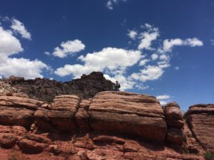 Hiking in Red Rocks, NV