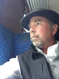 Wearing my ScotteVest on NYMR Train to Whitby
